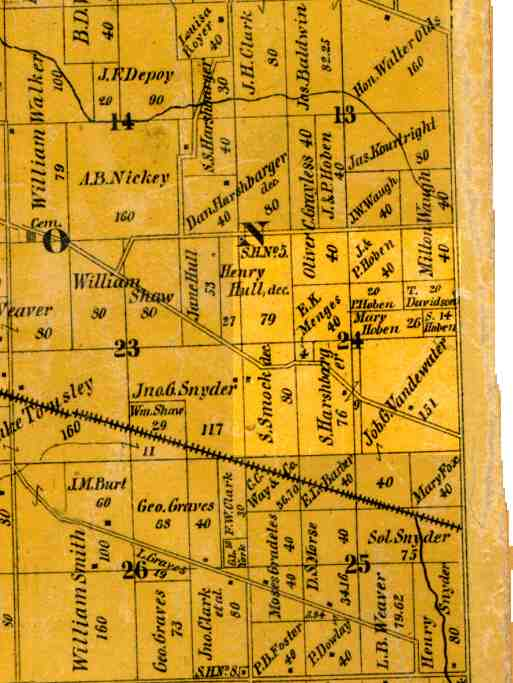 Whitley County, Indiana 1889 Plat Map Index & Images